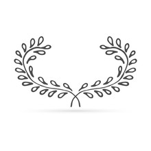 Doodle Wreaths Icon Isolated O...