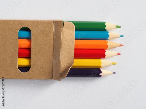 Obraz na płótnie colour pencil crayon