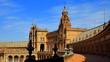 herrlicher spanischer Messepavillon in Sevilla am Plaza de Espana im Park vom Maria Luisa