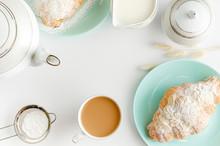 Morning Table. Fresh Croissant...