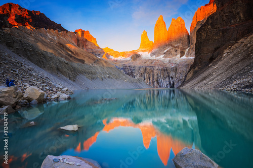 Torres Del Paine National Park, Chile. Wallpaper Mural