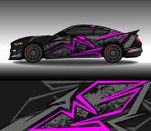 Wrap Car Decal Design Vector, Custom Livery Race Rally Car Vehicle Sticker And Tinting.