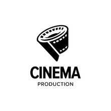 Film Strip Roll Logo Iconic. Branding For Website, Movie Maker, Movie Production, Videographer, Video Editor, Production House, Cinema, Cinematography, Etc. Isolated Graphic Designs Inspiration