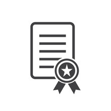 Charter Icon, Certificate Icon