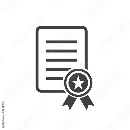 Photo charter icon, certificate icon