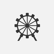 Ferris Wheel Icon Vector Illus...