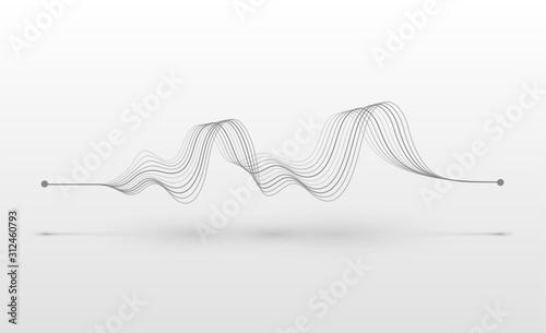 Obraz na plátně Wireframe sound wave