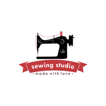 Sewing Machine Vintage Logo, T...