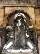 Glasgow Scotland Necropolis. Beautiful Mausoleum Statue.