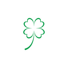 Leaf Clover Sign Icon.saint Patrick Symbol.design