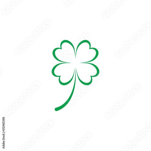 Tableau sur Toile Leaf clover sign icon.saint patrick symbol.design