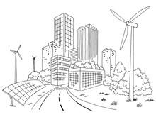 Eco City Graphic Black White C...