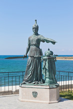 Sculptural Composition Russia At The Entrance To The Konstantinovsky Battery In The Hero City Of Sevastopol, Crimea