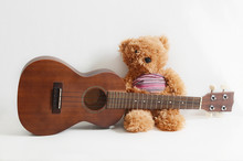 Guitar Ukulele And Teddy Bear
