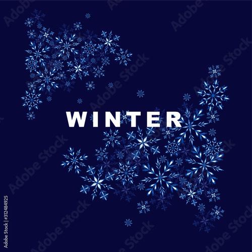 Photo inverno in blu