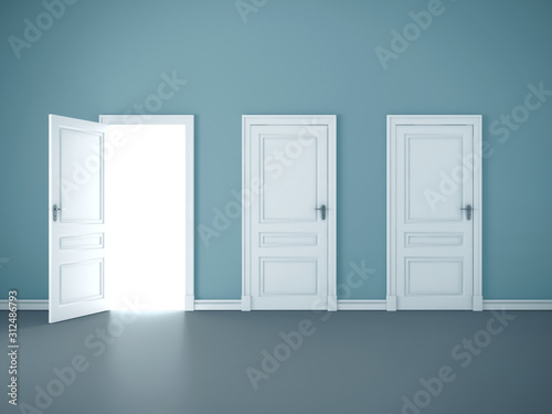 Obraz Bright light through an open door - fototapety do salonu