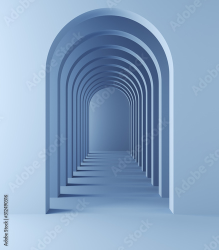 Fototapeta tunel  dlugi-tunel-z-lukami