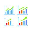 Bar chart illustration, business graph. data growth diagram. vector illustration