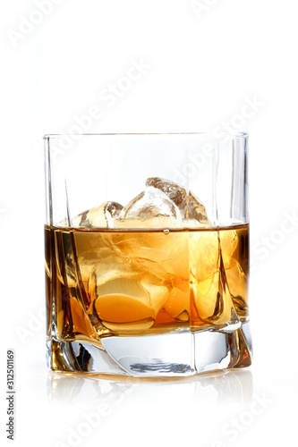 Glass of whisky - studio shot Canvas Print