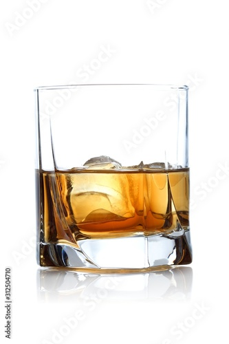 Close-up of glass with whisky Canvas Print