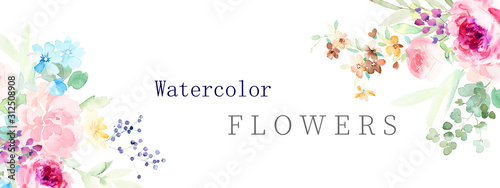 Fototapeta  watercolor flower illustration obraz