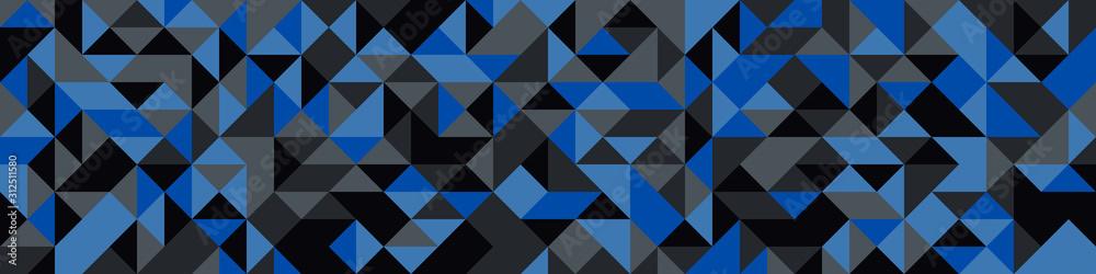 Fototapeta Pattern with random colored Diamonds Generative Art background illustration