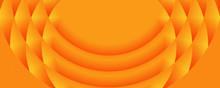 Geometric Circular Orange Banner Background