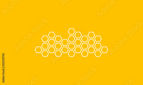 Photo abstract honeycombs design vector illustration.