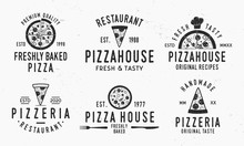 Vintage Pizza Logotypes Isolat...