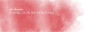 Red Watercolor Background. Flower Texture Banner With Free Copy Space For Your Graphic Design Or Text. Vector Illustrator. Ethereal Colors. Subtle And Delicate Surface.