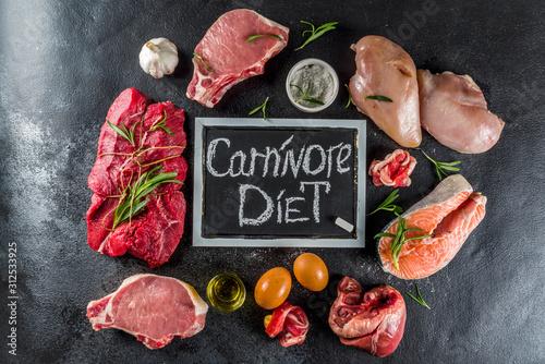 Carnivore protein diet background Fototapete