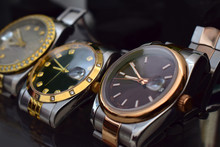 Luxury Watches Placed On A Gli...