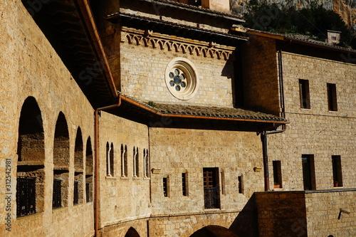 Details of San Benedetto Abbey, Subiaco, Lazio, Italia Canvas Print