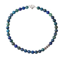 Necklace From Polished Azurite...
