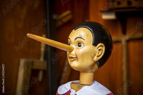 Pinocchio en bois Canvas Print