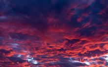 Red Clouds - Beautiful Colorful Sunset