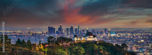 Los Angeles Skyline Panorama from Griffith Park