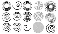 Set Of Line In Circle Form. Si...