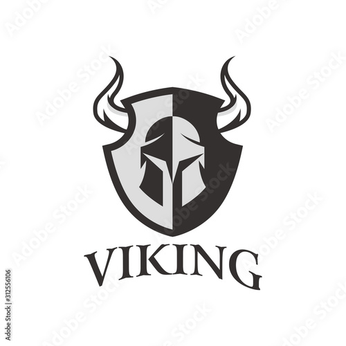 Photo viking logo vector graphic abstract template