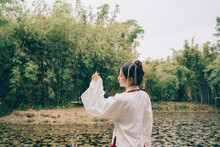 Chinese Woman In Traditional H...