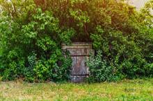 Old Wooden Door Of An Abandone...