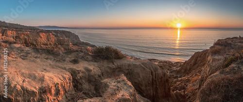 Stampa su Tela Razor Point at Sunset