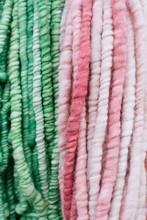 Pink And Green Yarn