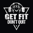 Get fit don't quit - vector