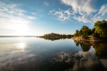 Calm Water Surface Of Lake In ...