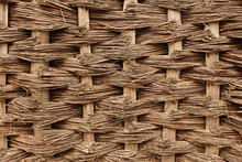 Natural Woven Wood Background