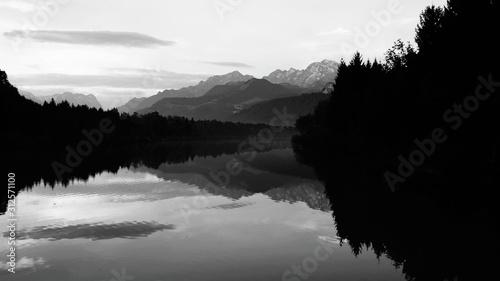 schwarzer Wald, Bergsee, Alpen Canvas Print