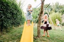 Stock Photo Of Little Girl Pla...