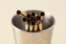 Metal Drinking Straw And Cup