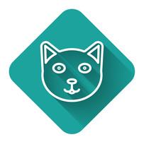 White Line Pet Icon Isolated W...